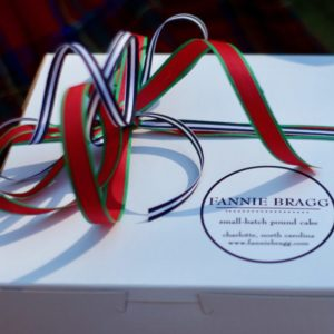 Signature holiday ribbon on any flavor boxed cake.